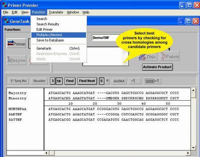引物设计软件Primer Premier 6.0